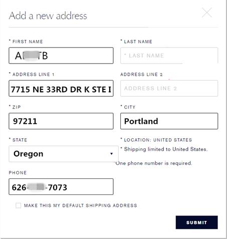添加收货地址