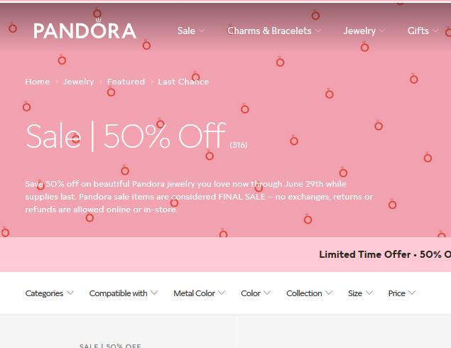 Pandora潘多拉美国官网