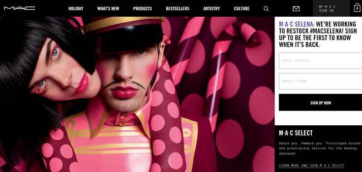 MAC美国官网:MAC口红官方网站拥有超多魅可彩妆产品