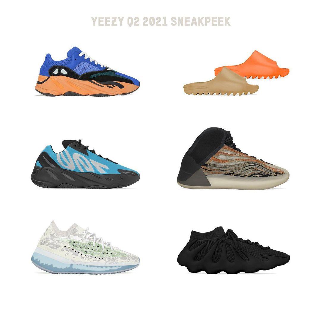 侃爷又发力了!2021年阿迪达斯Yeezy椰子鞋海淘新品全预告!